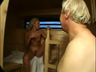Nengsemake cutie fucked and facialized in sauna
