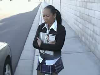 Naive asian schoolgirl fucked