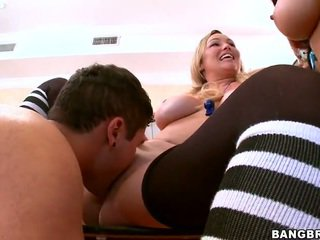 Busty Pornstars raid a dorm