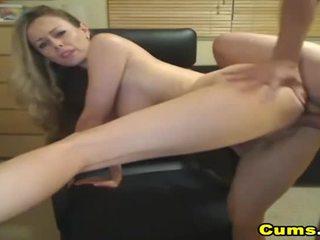 Barmfager blondt kone sucks og rides hd