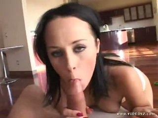 hq brunette fresh, big boobs, blowjob