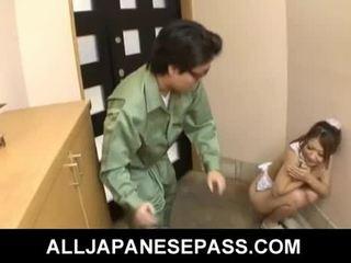 Forró fiatal japán csaj hibiki ohtsuki gives leszopás