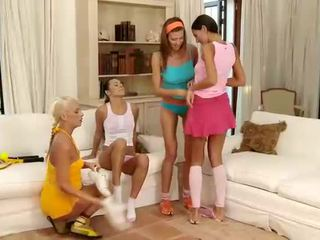 Beauties play lesbo games