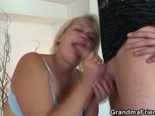 Vana blond pleases two studs