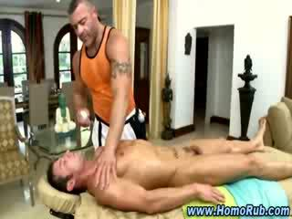 Straighty amateur hunk gets some dick play