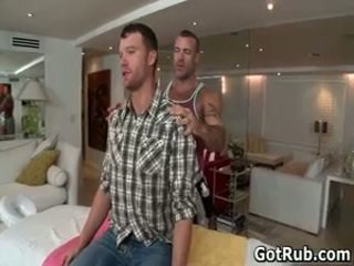 Smooth assed chap gets outstanding gay massage 1 par gotrub