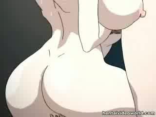 Loads de hentai disparo de corrida derramar fuera de su ambos holes
