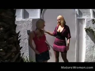 Blonde Mother And Daughter Mellanie Monroe And Haley Cummings Arrive To Prove This A Family That Does Porn Together, Stays Together. They Sit And Answer Some Questions For A Cam Till They Pre