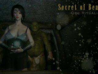 3d animated فتاة اللعنة orcs