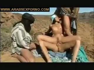 foursome, outdoor, arabs