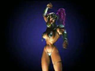 Animated dansand regină