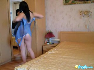 Youngster Cocoa Haired Tease In The Bedroom