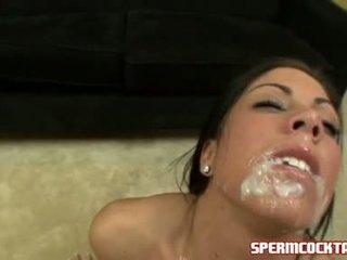 Wichse paramour eva ellington gets ein loadful von jock batter im sie süß mund