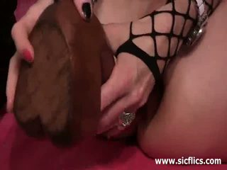 Extreme anal and pussy fisting carnage