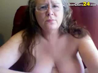 Gemuk hodoh nenek uses seks alat mainanan kepada masturbate