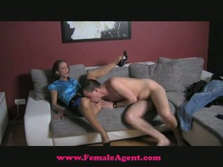 Young stud visits female agent!