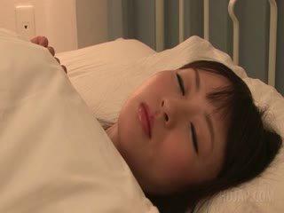 Delicate Asian Schoolgirl Seducing A Guy In Her Bed