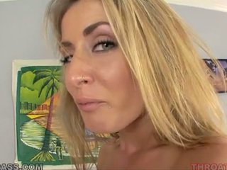 Cum eating blonde abby cross fucked in throat