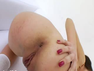 High heels and brutal cock in her bottom