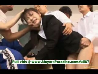 Rui saotome mature teacher at school gets fucked by her students