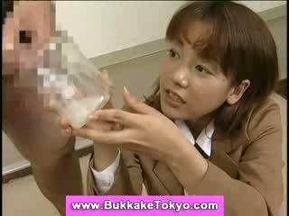 Japanese bukkake cum slut