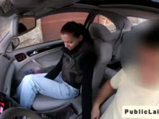 Student Gives Blowjob In Fake Taxi In Public