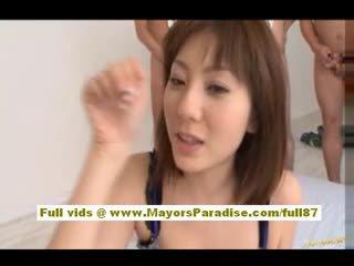 Yuma asami asiática nena gives an impresionante mamada