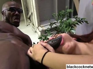 Black monster cock violates white sluts ass Video