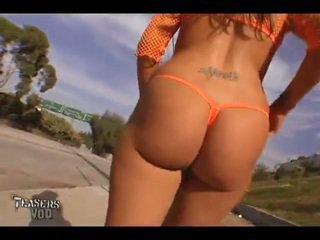 Britney 公 see-through transparent 丁字褲