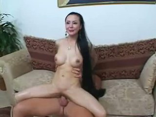 Dirty Oriental Wench Ange Venus Gets Her Huge Tits Covered In Hot Man Jam
