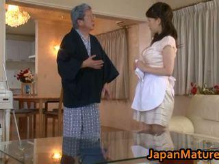 Moshë e pjekur japoneze grua qij tube