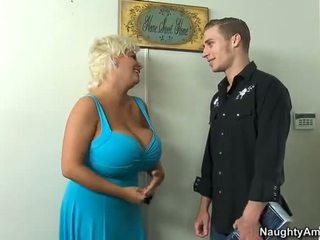 blondinės, big boobs, cowgirl