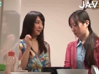 brunete, japānas, blowjob