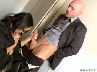 Katsumi Sucking Hard The Dick Of Her Office Mate