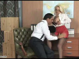 Sexy Office Slut Pussy Fucked Deep and Left Dripping in