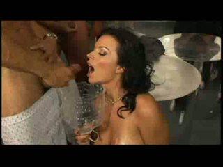 Bailey brooksamerican busty girl drinks dozens of loads of