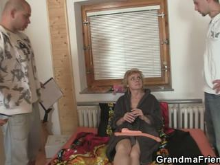 Hot Threesome with Skinny Blonde Granny, Porn 51
