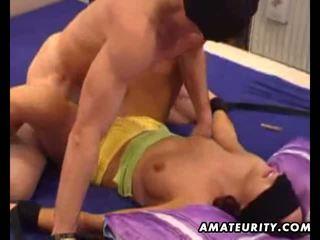 Amateur ex girlfriend sucks and fucks with facial