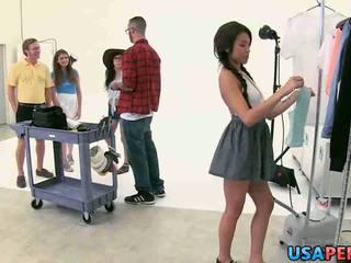 Photoshoot set turns into orgy April O'Neil, Jayden Lee & Lara Brookes.1.wmv