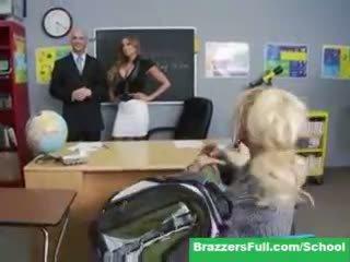 сексапилен голям, виждам учител шега, идеален училище