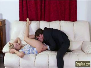 Glamour babe Karla Kush screwed on sofa