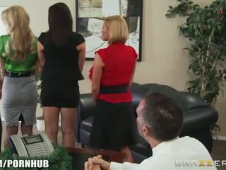 Business meeting turns into some hardcore office play