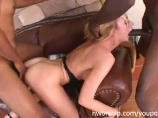 Sexy Blond Milf Is Full of Cocks Fucked Hard Interrasial Threesome Anal Video