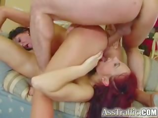 Ass Traffic Two Anal First-timers get Ass Bang Squirt