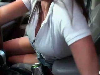 Happy girl enjoys cock