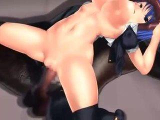 Stretta hentai rosa fica scopata da mostro cazzo in 3d