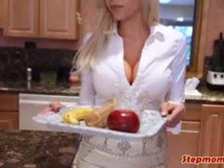 buah dada besar, blowjob, bertiga