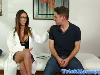 Busty Massage Nurse Dava Foxx Sucking Client: Free Porn 34