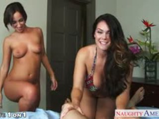Housewives Alison Tyler And Jada Stevens Sharing Dick In POV