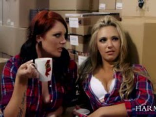 Naughty Lesbian Warehouse Workers Shay Hendrix And Sophia